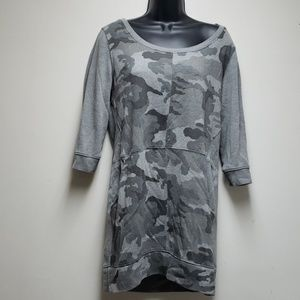 New York& Co. Camo Sweater Dress